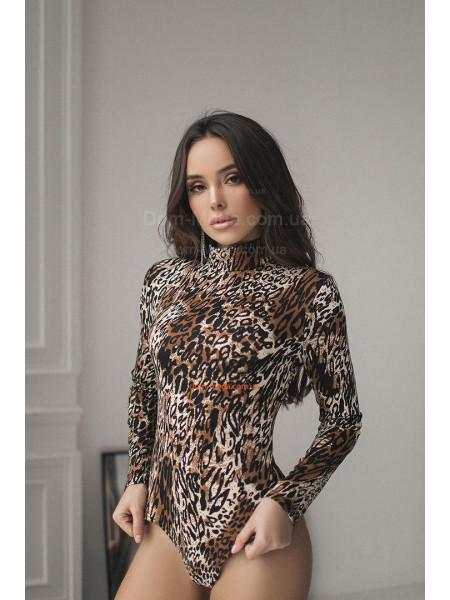 КУПИТИ ОНЛАЙН КУПИТИ ОНЛАЙН. Жіночий леопардовий боді гольф ... 707b29df55136