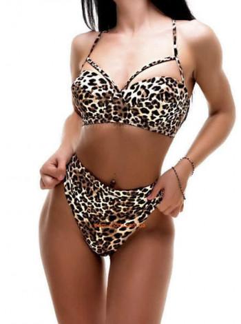 Роздільний леопардовий купальник