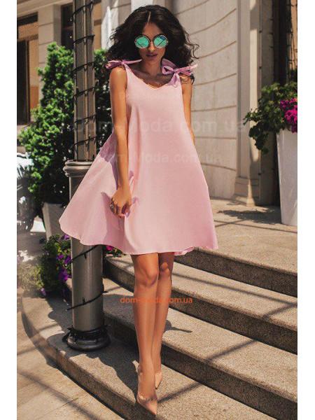 Легкое летнее платье свободного кроя с завязками