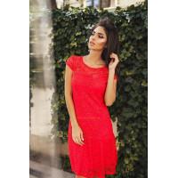"""Літнє мереживне плаття жіноче з коротким рукавом """"Коктельне"""""""