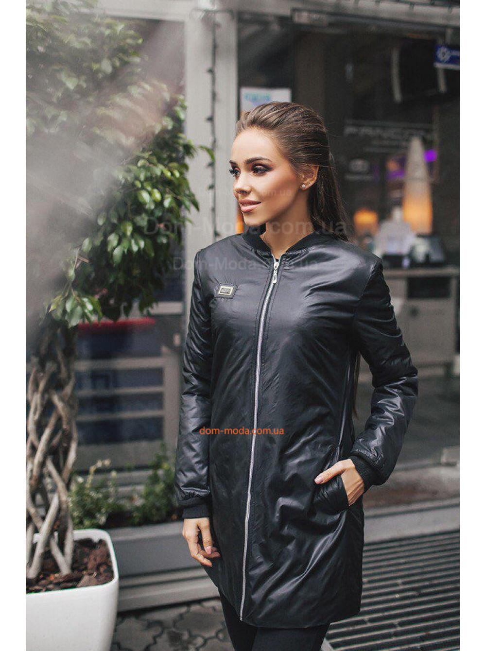 Подовжена осіння куртка в спортивному стилі купити за 430 грн SF ... 0d0d30f3552c5