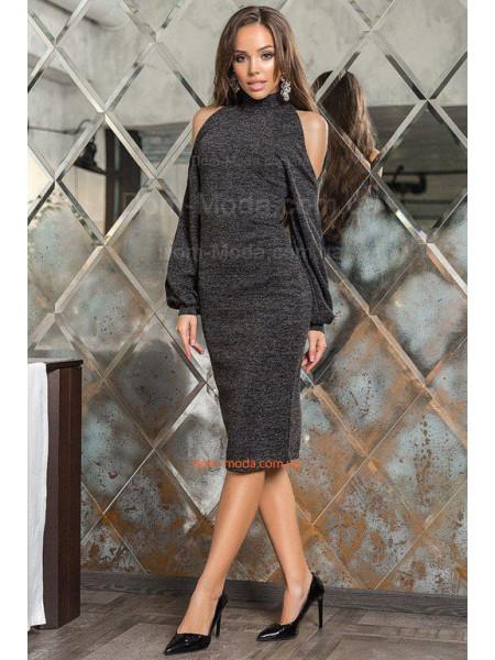 Модное платье гольф с открытыми плечами