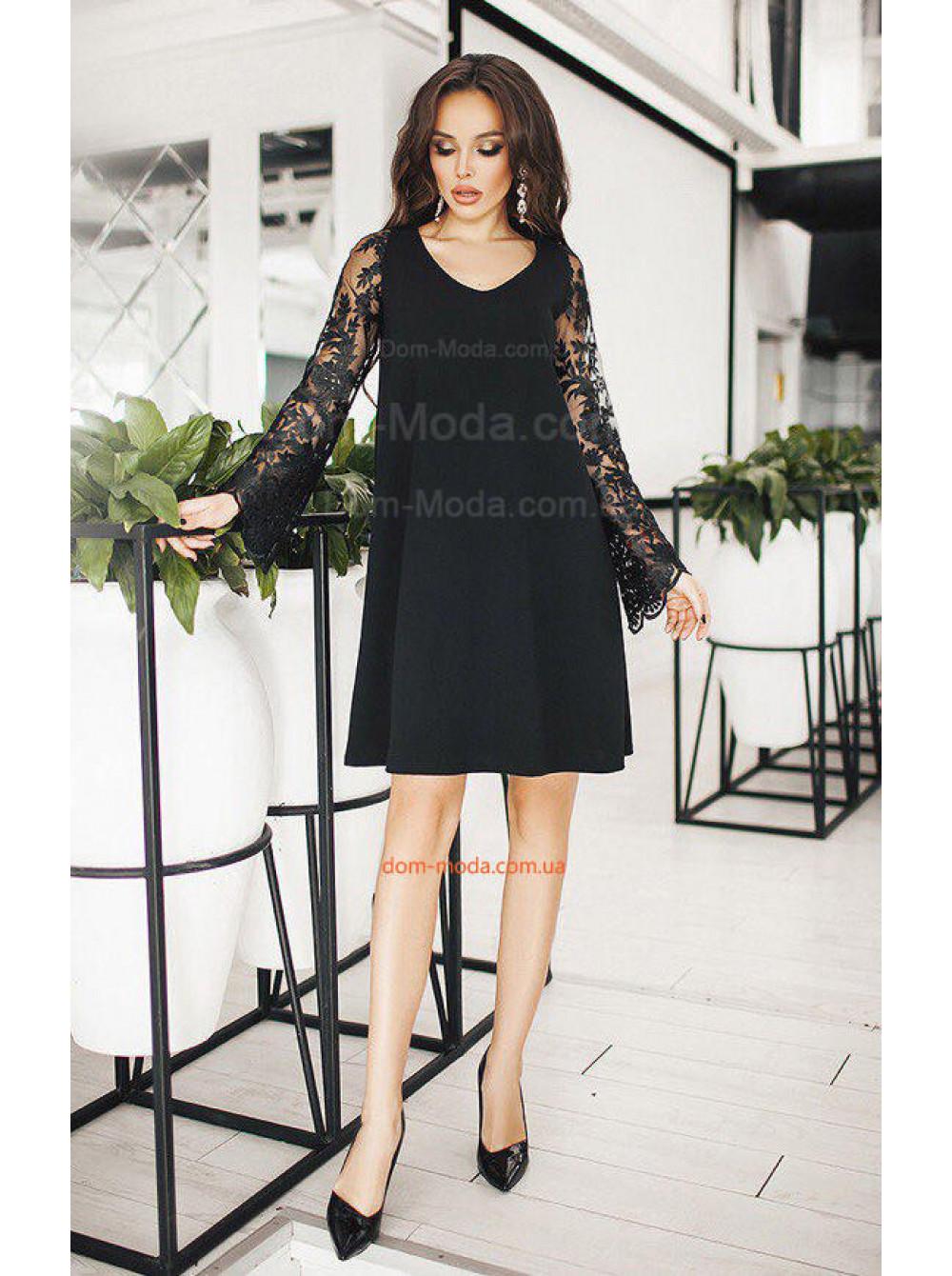 Плаття з мереживним рукавом купити за 430 грн SF-8738 в магазині ... 2bac038159825