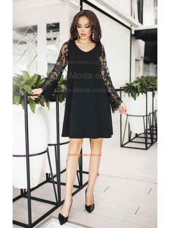 Плаття з мереживним рукавом