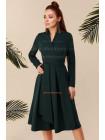 Короткое платье халат в деловом стиле