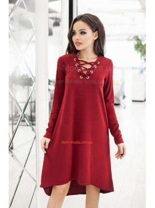 Теплое платье с люверсами