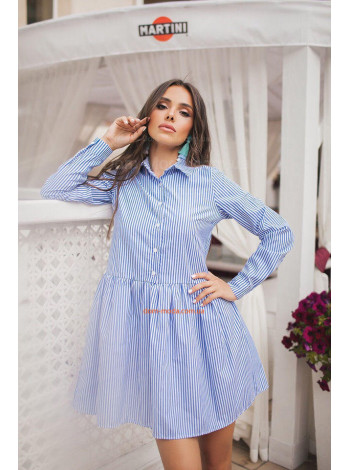 """Женское стильное платье рубашка в полоску """"Натали"""""""
