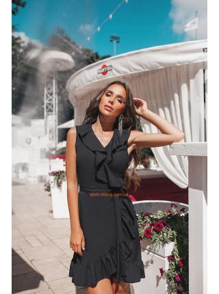 Короткое женское летнее платье с запахом