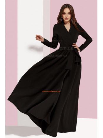 Жіноче довге плаття на запах з рукавом