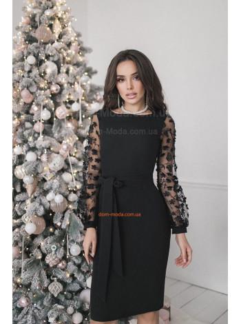 """Женское стильное платье с рукавом и поясом """"Загадка"""""""