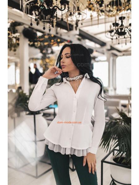 Модная женская рубашка с баской