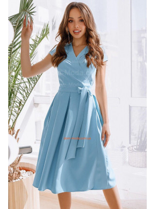 Женское летнее платье с запахом с коротким рукавом