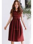 Жіноче літнє плаття з запахом з коротким рукавом