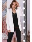 Удлиненный пиджак женский с карманами