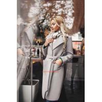 Кашемірове пальто великого розміру