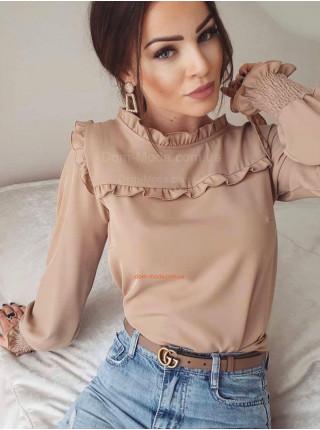 Жіноча шифонова блузка з рюшами