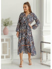 Жіноче плаття міді з яскравим принтом