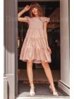 Женское платье свободного кроя в горошек