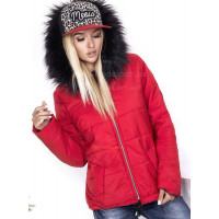 Женская короткая куртка на флисе