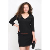 Жіноче міні плаття чорного кольору