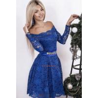 Вечірня гіпюрова сукня в стилі барбі