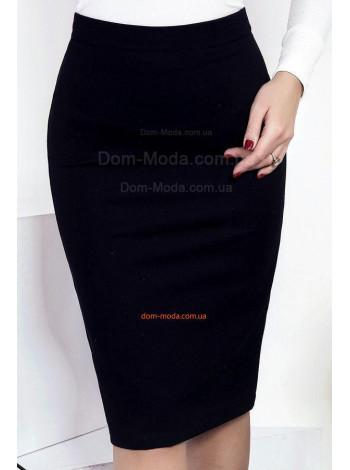 Чорна юбка олівець для офісу