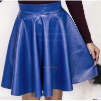 Шкіряна юбка в складку