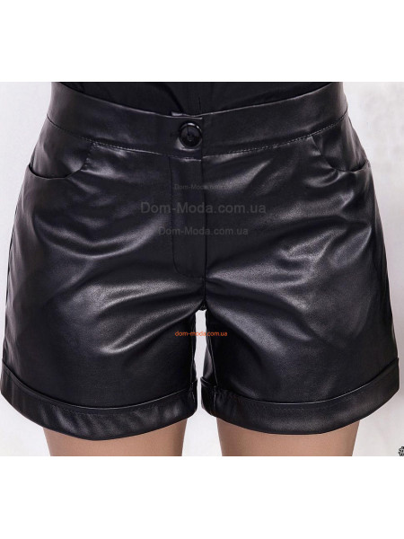 Короткие кожаные шорты