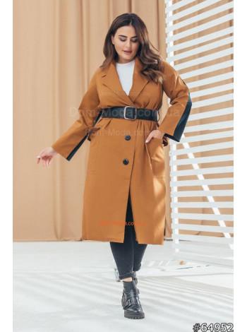 Модне жіноче двокольорове пальто