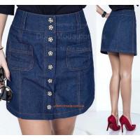Жіноча джинсова спідниця з завищеною талією