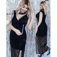 Жіноче мереживне стильне плаття в підлогу