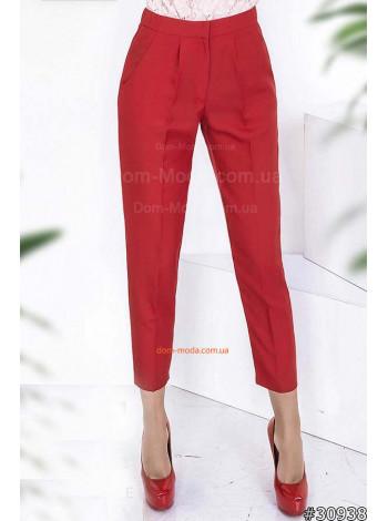 Женские модные брюки укороченные