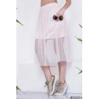 Модная летняя юбка из сетки на резинке