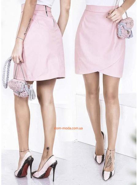 Женская кожаная юбка тюльпан