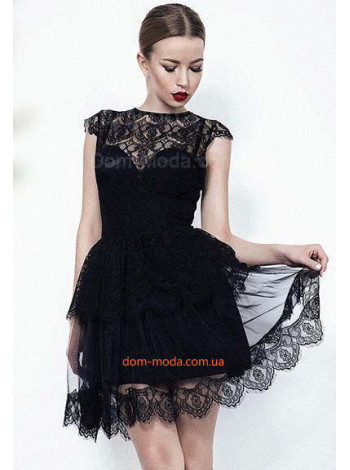 """Вечернее женское платье из гипюра """"Эскада"""""""