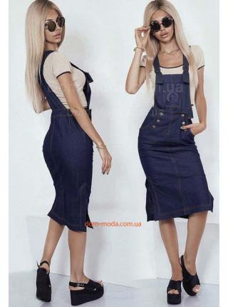 Жіночий джинсовий комбінезон сарафан