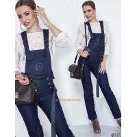 Жіночий синій комбінезон джинсовий
