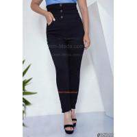 Жіночі модні завужені джинси на гудзиках великого розміру