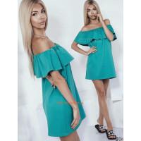 Стильне жіноче літнє плаття із відкритими плечима батального розміру