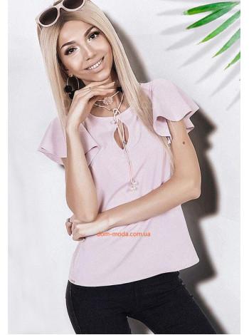 Женская блузка с воланами на рукавах