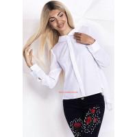 """Женская белая блуза с длинным рукавом """"Natasha"""""""