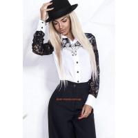 Женская блузка из креп шифона с воротничком