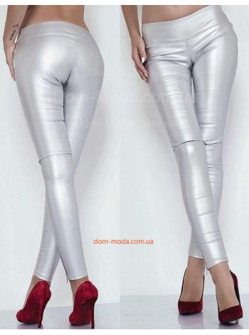 Женские облегающие кожаные лосины