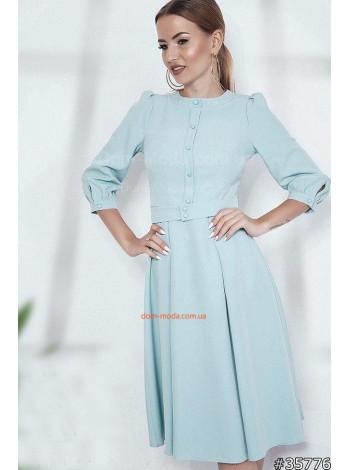 Нежное платье женское со складками