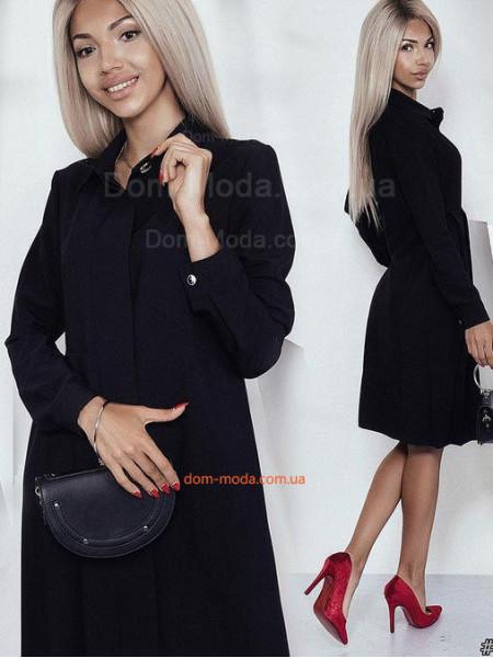 Женское деловое платье рубашечного стиля