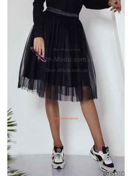 Женская пышная юбка пачка из сетки