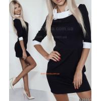 Модное женское мини платье со вставками и манжетами