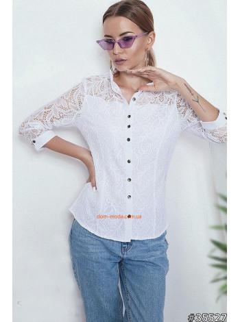 """Женская модная блузка с длинным рукавом """"Снежана"""""""