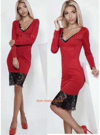 Короткое платье с гипюровыми вставками