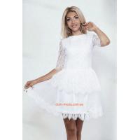 Молодежное вечернее платье из гипюра